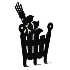 """Вешалка металлич. 3 крючка """"Веник и ушат"""" 11*13,5 см """"Банные штучки"""""""